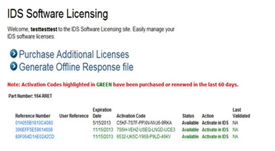 Renew a License